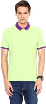 London Bridge Solid Men's Polo Neck Green T-Shirt