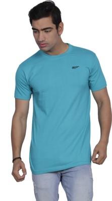 B2 Solid Men's Round Neck Light Blue T-Shirt