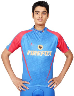 Triumph Firefox Printed Men's Round Neck Blue T-Shirt