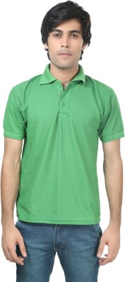 Stylish Trotters Solid Men's Polo Light Green T-Shirt