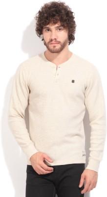 Lee Striped Men's Henley Beige T-Shirt