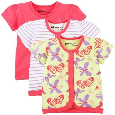 Babyoye Premium Printed Baby Girl's Round Neck Pink T-Shirt