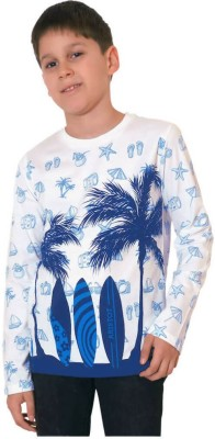 Aristot Graphic Print Boy,s Round Neck Blue T-Shirt