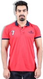 Goswhit Solid Men's Polo Neck Red T-Shir...