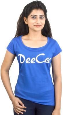 EEIA Printed Women's Scoop Neck Blue T-Shirt