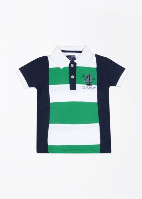 Status Quo Cubs Striped Boy's Polo T-Shirt