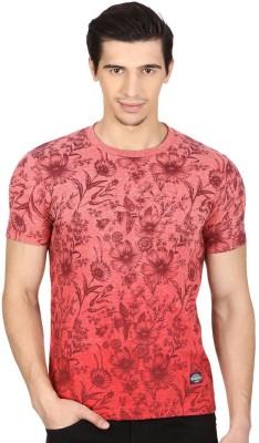 Monte Carlo Printed Men's Round Neck Red T-Shirt