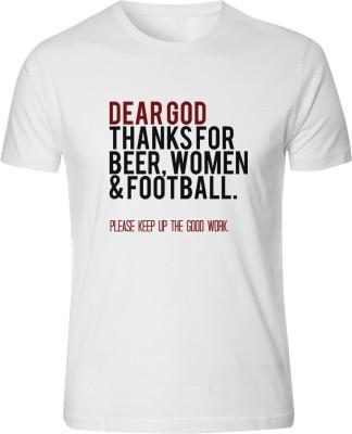 Bastard Tendencies Printed Men's Round Neck White T-Shirt
