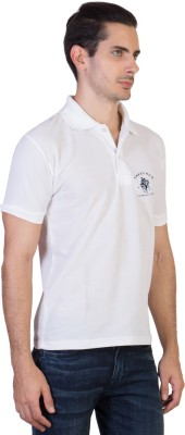 Green Wich United Polo Club Solid Men's Polo Neck White T-Shirt