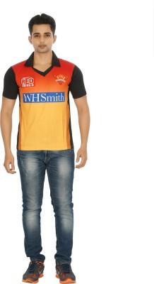 Attitude Printed Men's Polo Orange T-Shirt