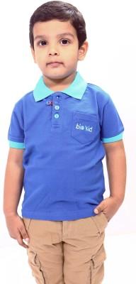 Bio Kid Solid Boy's Polo Blue T-Shirt