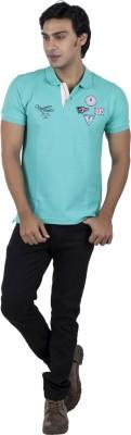 Vettorio Fratini Solid Men,s Polo Neck Green T-Shirt