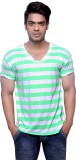 Masculino Latino Striped Men's V-neck Re...