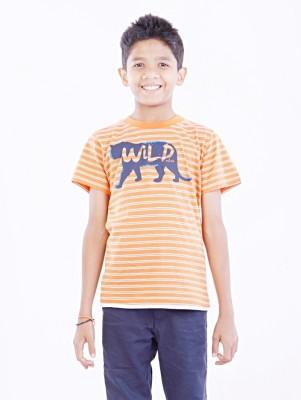 Milou Animal Print Boy's Round Neck T-Shirt