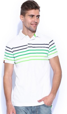 Superdry Striped Men's Polo White T-Shirt