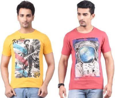 Motiv8Jeans Graphic Print Men's Round Neck Multicolor T-Shirt