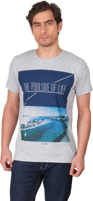 CFT Printed Men's Round Neck Grey T-Shirt