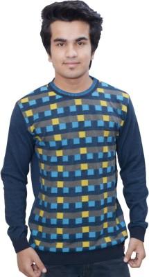 Being Dessi Solid Men's Round Neck Blue, Green, Dark Blue T-Shirt