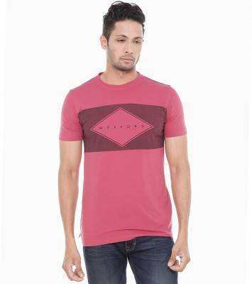 Wexford Printed Men's Round Neck Red T-Shirt