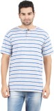 Danteez Striped Men's Henley Grey T-Shir...