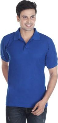Pikcart Solid Men's Polo Neck Blue T-Shirt