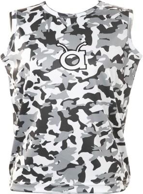 Anthill Military Camouflage Boy's Round Neck Grey T-Shirt
