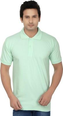 Kaar Solid Men's Polo Neck Light Green T-Shirt