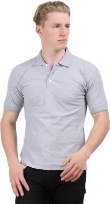 Stylefox Solid Men's Polo Grey T-Shirt