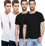 Feed Up Solid Men's Round Neck Multicolo...