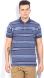 Gant Striped Men's Polo Neck Blue T-Shir...