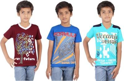 Maringo Classic Printed Boy's Round Neck Multicolor T-Shirt