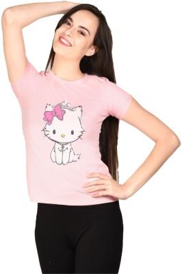 LetsFlaunt Printed Women's Round Neck T-Shirt