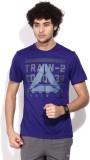 Reebok Printed Men's Round Neck Purple T...