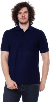Rose Taylor Solid Men,s Polo Blue T-Shirt