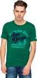 T-Base Printed Men's Round Neck Green T-...