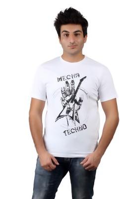 Numero Uno Graphic Print Men's Round Neck White T-Shirt