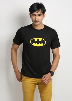 Weardo Printed Men's Round Neck Black T-Shirt