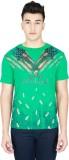 LAWMAN Printed Men's Round Neck Green T-...