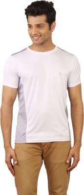 Wermin Solid Men's Round Neck White, Grey T-Shirt