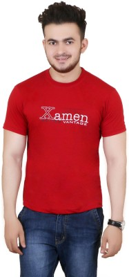 Zrestha Solid Men's Round Neck Red T-Shirt