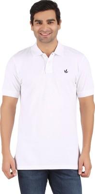Lavos Solid Men's Polo Neck White T-Shirt