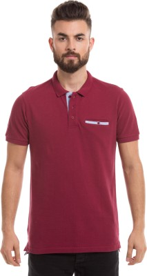 Prym Solid Men's Polo Neck T-Shirt