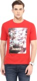 Cayman Printed Men's Round Neck Red T-Sh...