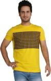 Rags Style Printed Men's Round Neck Yell...