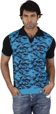 Fulon Printed Men,s Polo Neck T-Shirt