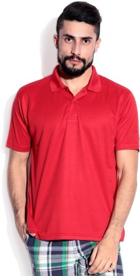 Lotto Solid Men's Polo Neck Red T-Shirt