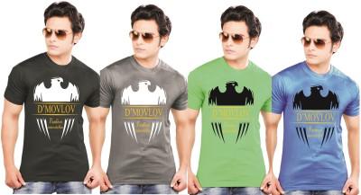 Ks Balaji Printed Men's Round Neck Multicolor T-Shirt