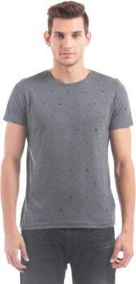 Shuffle Printed Men's Round Neck Blue T-Shirt