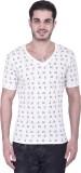 House Of Fett Printed Men's V-neck Multi...