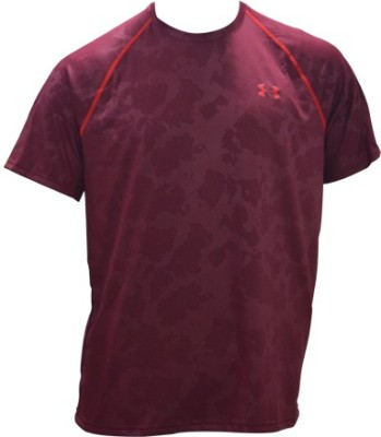 Under Armour Solid Men's Round Neck Red T-Shirt